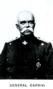 Georg Leo von Caprivi  (1831-1899) German soldier and statesman. In March 1890 he succeeded Bismarck as Chancellor of Germany. Photograph.