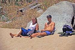 Tourists On Nkhata Bay Beach