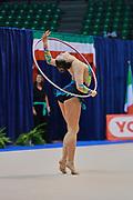Claudia Arrigo atleta della società Polimnia Ritmica Romana durante la seconda prova del Campionato Italiano di Ginnastica Ritmica.<br /> La gara si è svolta a Desio il 31 ottobre 2015.