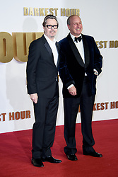 December 11, 2017 - London, United Kingdom of Great Britain and Northern Ireland - Gary Oldman (L) and Randolph Churchill arriving at the premiere of 'Darkest Hour' at the Odeon Leicester Square on December 11, 2017 in London, England  (Credit Image: © Famous/Ace Pictures via ZUMA Press)