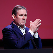 GLASGOW, SCOTLAND - FEBRUARY 15: Sir Keir Starmer speaking at the Labour leadership hustings on the stage at SEC in Glasgow on February 15, 2020 in Glasgow, Scotland. (Photo by Robert Perry/Getty Images)