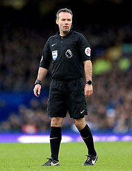 Referee Paul Tierney during the Premier League match at Goodison Park, Liverpool.