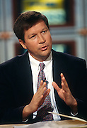 Congressional Rep. John Kasich appears on NBC's Meet the Press December 8, 1996 in Washington, DC.