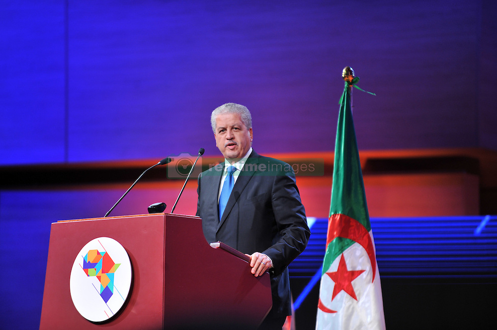 ALGIERS, Dec. 3, 2016 (Xinhua) -- Algerian Prime Minister Abdelmalek Sellal addresses the African Investment and Business Forum in Algiers, capital of Algeria, on Dec. 3, 2016. Some 40 African countries are taking part in the African Investment and Business Forum which kicked off on Saturday evening in Algiers. (Xinhua) (Credit Image: © Xinhua via ZUMA Wire)