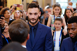 France's team captain Hugo Lloris during a ceremony to award French 2018 football World Cup winners with the Legion of Honour at the Elysee Palace in Paris, on June 4, 2019. Photo by Hamilton/pool/ABACAPRESS.COM