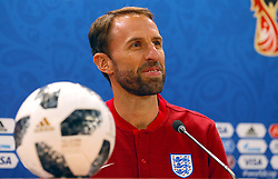 England Manager Gareth Southgate during the press conference at the Volgograd Arena. PRESS ASSOCIATION Photo. Picture date: Sunday June 17, 2018. See PA story WORLDCUP England. Photo credit should read: Aaron Chown/PA Wire. RESTRICTIONS: Editorial use only. No commercial use. No use with any unofficial 3rd party logos. No manipulation of images. No video emulation