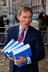 © Licensed to London News Pictures.  29/11/2012. LONDON, UK. Labour MP Chris Bryant (pictured) speaks to the media outside QE2 hall following the announcement of the Leveson Inquiry this afternoon. Photo credit :  Cliff Hide/LNP