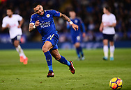 Danny Simpson of Leicester in action. .Premier league match, Leicester City v Tottenham Hotspur at the King Power Stadium in Leicester, Leicestershire on Tuesday 28th November 2017.<br /> pic by Bradley Collyer, Andrew Orchard sports photography.