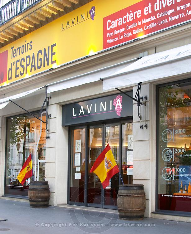 Lavinia wine shop, restaurant and bar - the biggest wine shop in Paris Paris, France.