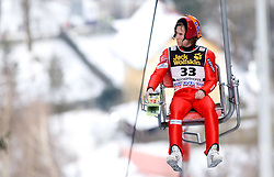 Kalle Keituri (FIN) competes during Trial round of the FIS Ski Jumping World Cup event of the 58th Four Hills ski jumping tournament, on January 5, 2010 in Bischofshofen, Austria. (Photo by Vid Ponikvar / Sportida)