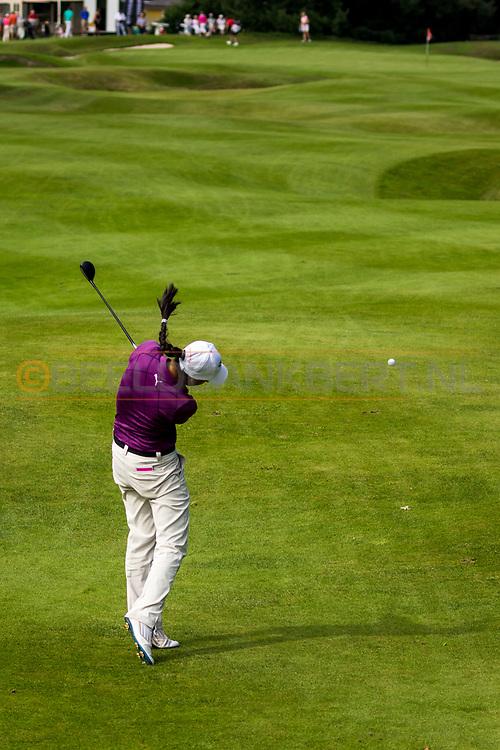 21-08-2015 -  Foto van Zhen Bontan tijdens de derde ronde van het Nationaal Open 2015 op de Hilversumsche Golf Club in Hilversum, Nederland.