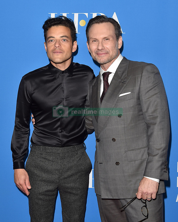 Hollywood Foreign Press Association's Grants Banquet. The Beverly Hilton, Beverly Hills, California. Pictured: Mj Rodriguez. EVENT August 9, 2018. 09 Aug 2018 Pictured: Rami Malek,Christian Slater. Photo credit: AXELLE/BAUER-GRIFFIN/MEGA TheMegaAgency.com +1 888 505 6342