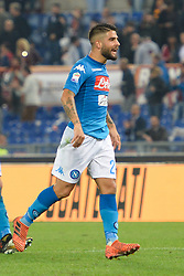 October 14, 2017 - Rome, Italy - Lorenzo Insigne during the Italian Serie A football match between A.S. Roma and S.S.C. Napoli at the Olympic Stadium in Rome, on october 14, 2017. (Credit Image: © Silvia Lor/Pacific Press via ZUMA Wire)