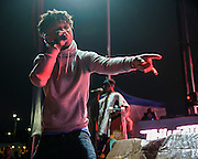 """WASHINGTON, DC - August 23rd, 2014 - Swae Lee and Slim Jimmy of Rae Sremmurd perform at the 3rd annual Trillectro Music Festival at RFK Stadium in Washington, D.C. The group's single """"No Flex Zone"""" is currently moving up the hip-hop charts. (Photo by Kyle Gustafson / For The Washington Post)"""