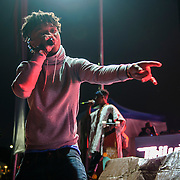 "WASHINGTON, DC - August 23rd, 2014 - Swae Lee and Slim Jimmy of Rae Sremmurd perform at the 3rd annual Trillectro Music Festival at RFK Stadium in Washington, D.C. The group's single ""No Flex Zone"" is currently moving up the hip-hop charts. (Photo by Kyle Gustafson / For The Washington Post)"