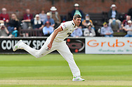 Craig Overton of Somerset bowling during the Specsavers County Champ Div 1 match between Somerset County Cricket Club and Worcestershire County Cricket Club at the Cooper Associates County Ground, Taunton, United Kingdom on 22 April 2018. Picture by Graham Hunt.