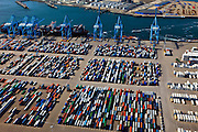 Nederland, Zuid-Holland, Maasvlakte, 23-05-2011; APM Terminals met containeropslag en -overslag in de Rotterdamse Haven..APM Terminals with container storage and transshipment in the port of Rotterdam..luchtfoto (toeslag), aerial photo (additional fee required).copyright foto/photo Siebe Swart