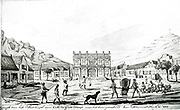 View of the Town Hall at the Cape of Good Hope, in 1764.