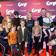 NLD/Amsterdam/20190210- première Corgi,, Bridget Maasland en familie,  ouders en broer Bryan