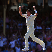 Australian bowler Peter Siddle celebrates after bowling South African batsman Mark Boucher. Siddle finiished with figures of 5-59 during day three of the third test match between Australia and South Africa at the Sydney Cricket Ground on January 5, 2009 in Sydney, Australia. Photo Tim Clayton