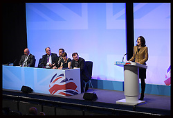 The United Kingdom in Action panel  at the Conservative Party Conference in Birmingham, Monday, 8th October October 2012. Photo by: Stephen Lock / i-Images
