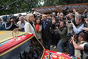 YVONNE INNES, RINGO STARR AND OLIVIA HARRISON. Opening day of the Chelsea Flower Show. Royal Hospital Grounds. London. 19 May 2008 *** Local Caption *** -DO NOT ARCHIVE-© Copyright Photograph by Dafydd Jones. 248 Clapham Rd. London SW9 0PZ. Tel 0207 820 0771. www.dafjones.com.