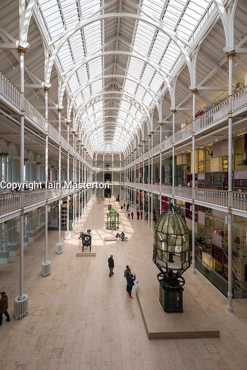 Interior of National Museum of Scotland in Edinburgh, Scotland, United Kingdom