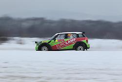 06.02.2014, Torsby, Hagfors, SWE, FIA, WRC, Schweden Rallye, Tag 2, im Bild Gorban Valerity/Korsia Volodymyr (Eurolamp WRT/BMW-Mini John Cooper Works), Action / Aktion // during the FIA WRC Sweden Rally at the Torsby in Hagfors, Sweden on 2014/02/07. EXPA Pictures © 2014, PhotoCredit: EXPA/ Eibner-Pressefoto/ Bermel<br /> <br /> *****ATTENTION - OUT of GER*****