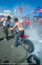 Biker Build Off between Arlen Ness and Roland Sands in Puerto Rico photographed in December 2004.