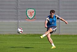 NEWPORT, WALES - Wednesday, October 8, 2014: Wales' Joe Walsh training at Dragon Park National Football Development Centre ahead of the UEFA Euro 2016 qualifying match against Bosnia and Herzegovina. (Pic by David Rawcliffe/Propaganda)