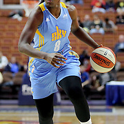 UNCASVILLE, CONNECTICUT- MAY 05:  Clarissa Dos Santos #8 of the Chicago Skyduring the Atlanta Dream Vs Chicago Sky preseason WNBA game at Mohegan Sun Arena on May 05, 2016 in Uncasville. (Photo by Tim Clayton/Corbis via Getty Images)