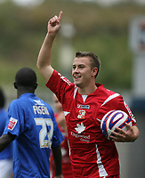 Photo: Rich Eaton.<br /> <br /> Millwall v Swindon Town. Coca Cola League 1. 29/09/2007. Swindon's Simon Cox all smiles after scoring for Swindon to make it 1-1