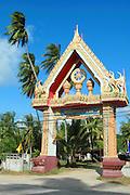 Temple entrance, Ko Samui, Thailand
