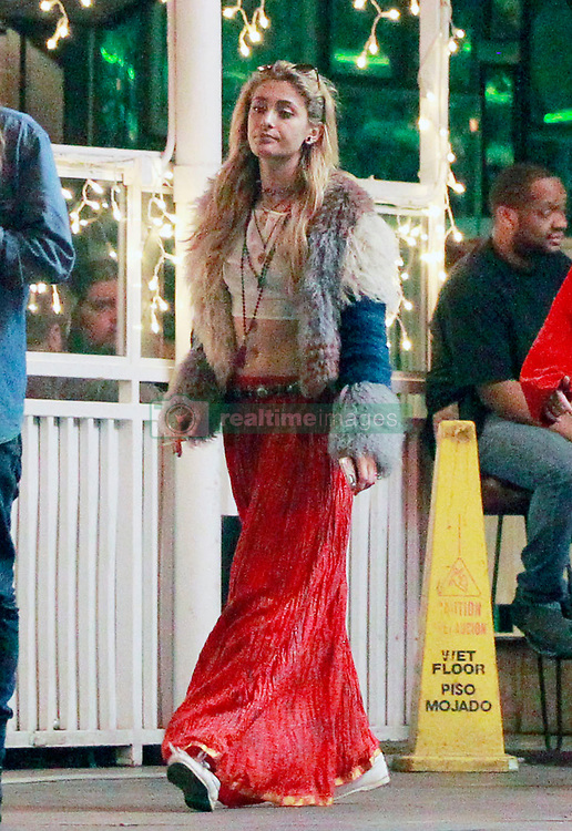 EXCLUSIVE: Paris Jackson gets up close and very personal with girlfriends. The daughter of pop legend, Michael Jackson who has just revealed she is bisexual during a social media session with fans was spotted with some female friends hugging and at the Rainbow on Sunset. 17 Aug 2018 Pictured: Paris Jackson. Photo credit: FIA Pictures / MEGA TheMegaAgency.com +1 888 505 6342