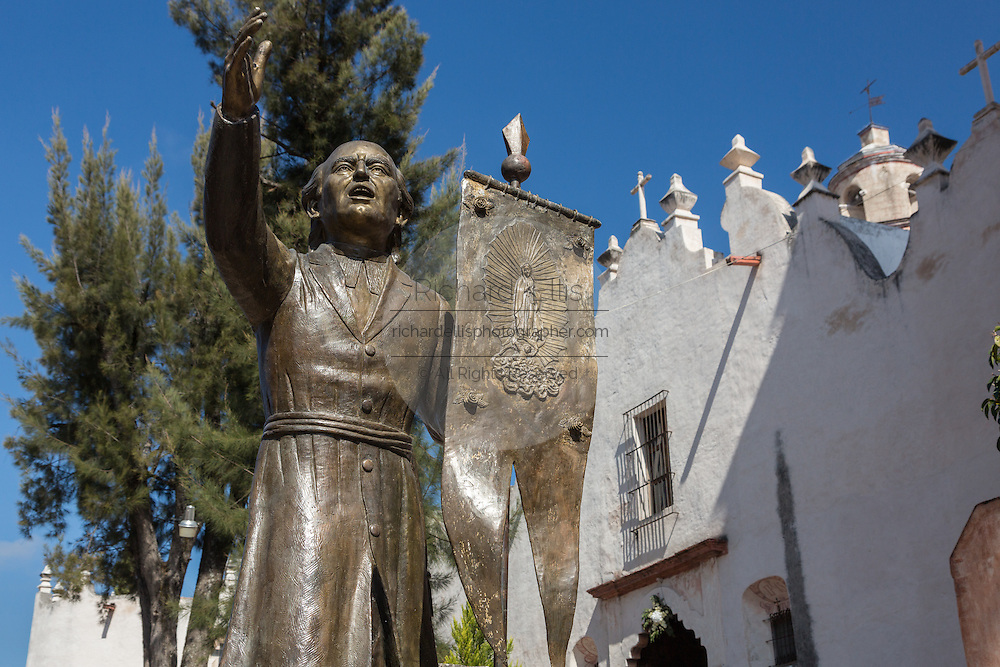 Statue of Father Luis Felipe Neri de Alfaro founder of the Sanctuary of Atotonilco an important Catholic shrine in Atotonilco, Mexico.