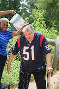 Houston ISD trustee Manuel Rodriguez, Jr, takes the ALS Ice Bucket Challenge, August 21, 2014.