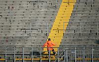 "Gli spalti dello stadio sono vuoti<br /> <br /> Empy stands. Some Italy stadiums were closed for security reasons after last week clashes after Catania Palermo<br /> <br /> Italian ""Serie A"" 2006-2007<br /> <br /> 11 Feb 2007 (Match Day 23)<br /> <br /> Atalanta-Lazio (0-0)<br /> <br /> ""Atleti Azzurri D'Italia"" Stadium-Bergamo-Italy<br /> <br /> Photographer:Jennifer Lorenzini INSIDE"