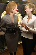 Rachel Campbell-Johnston and `Katherine Goodison, Opening of Hungary's Heritage-Princely Treasures from the Esterhaxy Collection. The Gilbert collection. Somerset House. 25 October 2004. ONE TIME USE ONLY - DO NOT ARCHIVE  © Copyright Photograph by Dafydd Jones 66 Stockwell Park Rd. London SW9 0DA Tel 020 7733 0108 www.dafjones.com