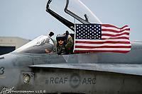 "Trenton, NJ. Joint Base McGuire-Dix-Lakehurst ""Power In The Pines"". Royal Canadian Air Force CF-18. Photograph by Alan Brian Nilsen/©AlanBrianNilsen"