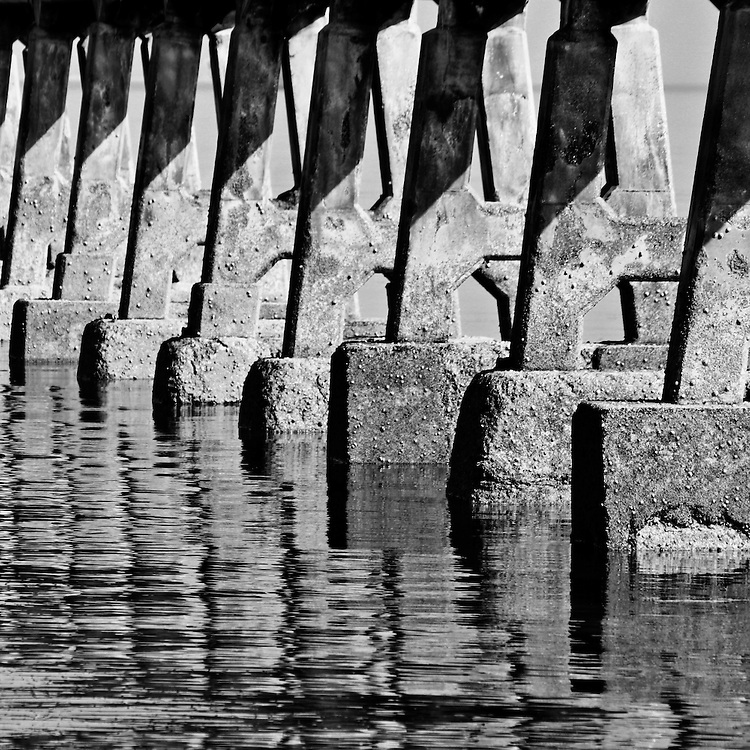 Reflections of Bembridge Lifeboat Station in the final days before it was torn down