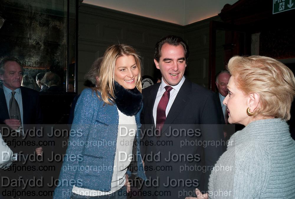 TATIANA BLATNIK; PRINCE NIKOLAOS OF GREECE; CAROLINA HERRERA;, Graydon and Anna Carter host a lunch for Carolina Herrera to celebrate the ipening of her new shop on Mount St. .The Connaught. London. 20 January 2010