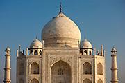 The Taj Mahal mausoleum southern view detail, Uttar Pradesh, India