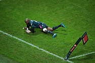 Djibril Camara (Stade Francais) scored a try during the French championship Top 14 Rugby Union match between Stade Francais Paris and Union Bordeaux-Begles on December 30, 2017 at Jean Bouin stadium in Paris, France - Photo Stephane Allaman / ProSportsImages / DPPI