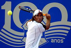 O tenista Franco Ferreiro é um dos atletas que está participando do quarto Porto Alegre Open de Tênis que está acontecendo nas quadras de saibro da sede Alto Petrópolis do Grêmio Náutico União (GNU), em Porto Alegre. FOTO: Marcos Nagelstein/Preview.com