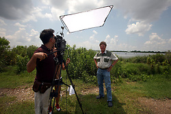 01 June 2010. New Orleans, Louisiana, USA.  <br /> Dr Ivor Van Herden shot on set in Chalmette for Spike Lee's latest movie, 'If God is Willing and da Creek Don't Rise.'<br /> Photo ©; Charlie Varley/varleypix.com.