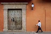 Colonial doorway, Cartagena, Colombia