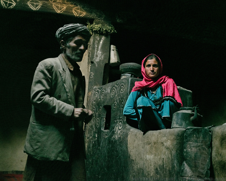 At the house of Arif Baig. The man here is an opium addict, and his niece takes care of him. Opium is brought from the lower valley and used to relief pain, when someone is sick.<br />
