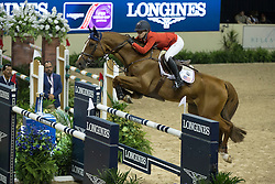 Davis Lucy, (USA), Barron<br /> Longines FEI World Cup™ Jumping Final I<br /> Las Vegas 2015<br />  © Hippo Foto - Dirk Caremans<br /> 17/04/15