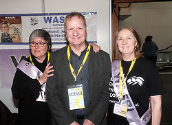 SNP Spring Conference, Saturday 27th April 2019<br /> <br /> Pictured: Pete Wishart MP meets the WASPI women<br /> <br /> Alex Todd | Edinburgh Elite media