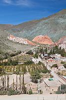 CERRO DE LOS SIETE COLORES, PUEBLO DE PURMAMARCA Y RUTA 52, QUEBRADA DE HUMAHUACA, PROVINCIA DE JUJUY, ARGENTINA (PHOTO © MARCO GUOLI - ALL RIGHTS RESERVED)